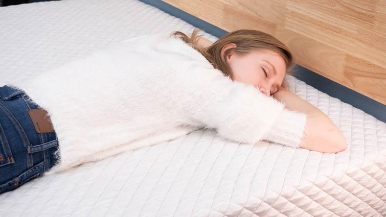 Stomach sleeping on the Leesa Hybrid