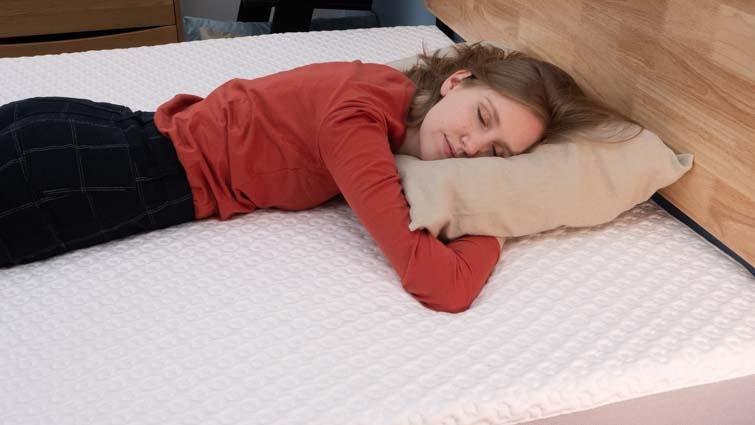 stomach sleeping on the Luma