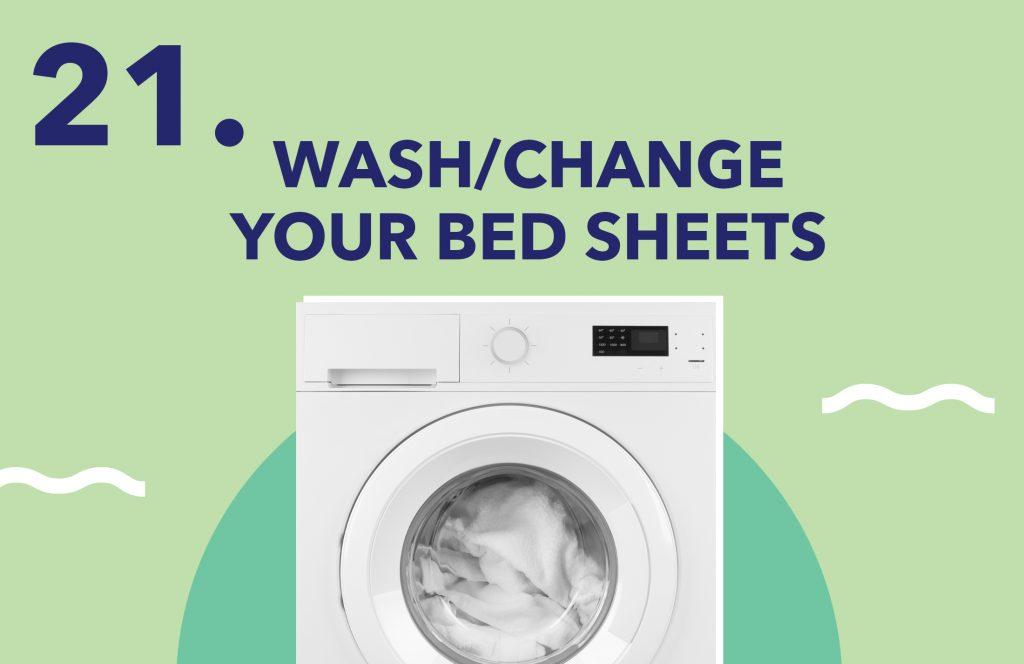 Day21 Wash ChangeYourBedSheets