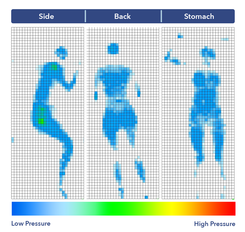 The Flex's pressure map results.
