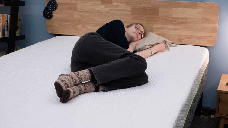 Side sleeping on the 3D Matrix.