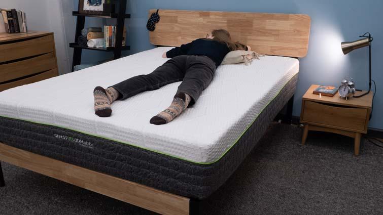 Stomach sleeping on the 3D matrix