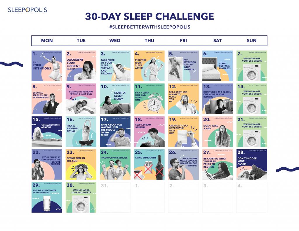 30DaySleepChallenge Calendar 2
