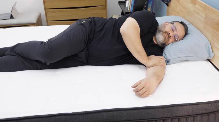 Side sleeping on the Titan Luxe