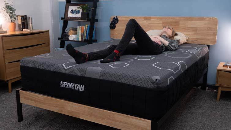 Back sleeping on the Spartan mattress