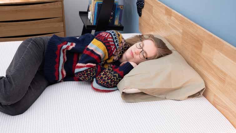 Side sleeping on the Premier Copper mattress
