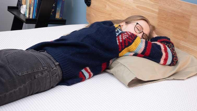 stomach sleeping on the Premier Copper mattress