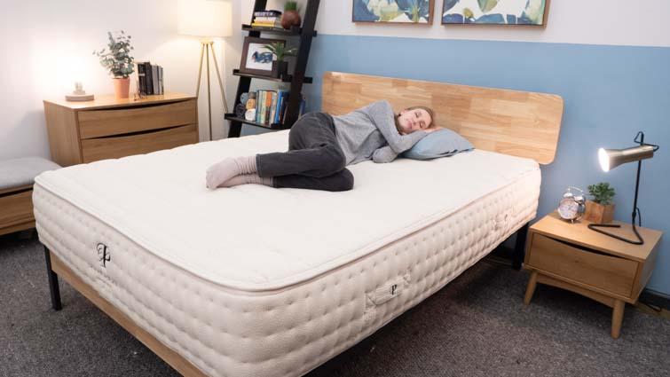 Side sleeping on the Botanical Bliss mattress