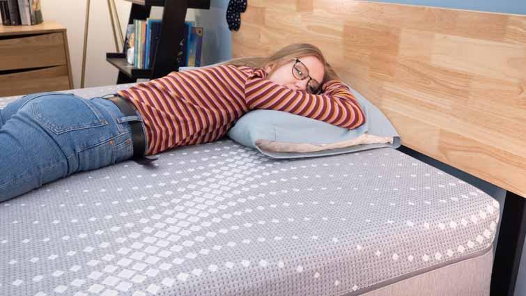 Stomach sleeping on the Posturepedic Paterson Hybrid
