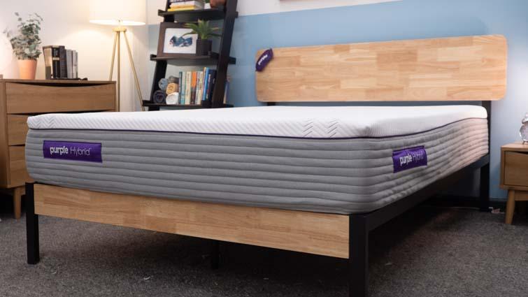 The Purple Hybrid mattress in the Sleepopolis studio.