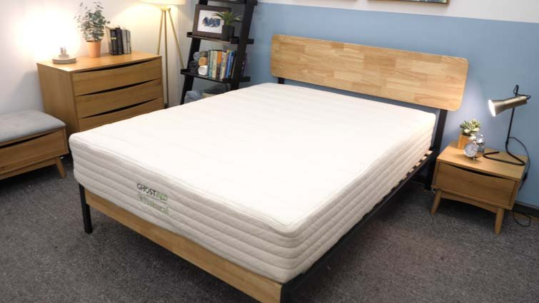 The GhostBed Natural mattress in the Sleepopolis studio.